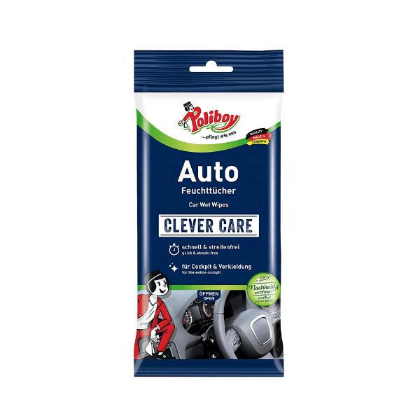 Poliboy влажни кърпи за почистване на Автомобили, 20 бр