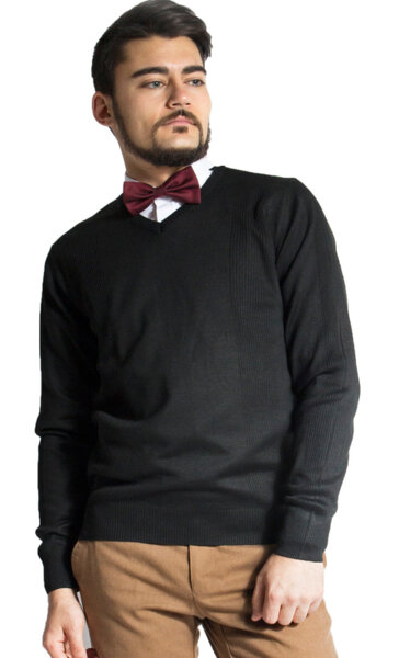 Мъжки плетен пуловер LAZARINI 5/ color 1