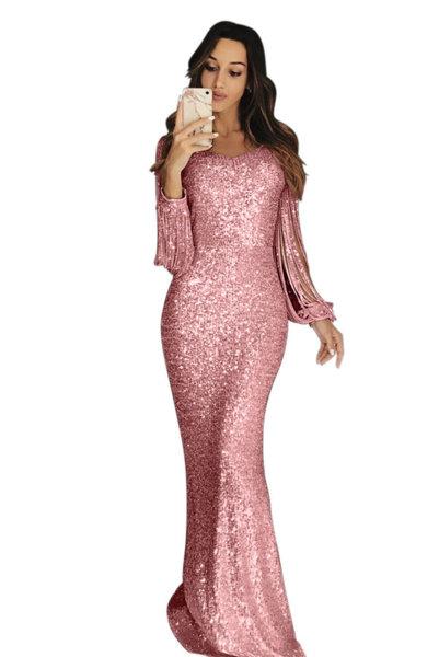 Дълга рокля с пайети