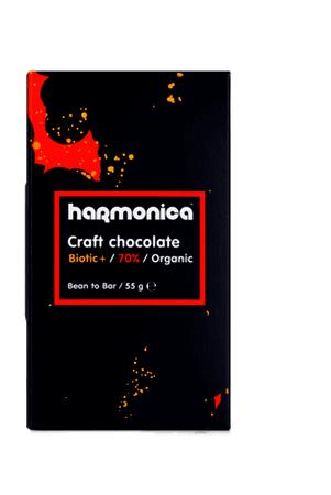 Био Черен шоколад 70% с пробиотици, 55 г.