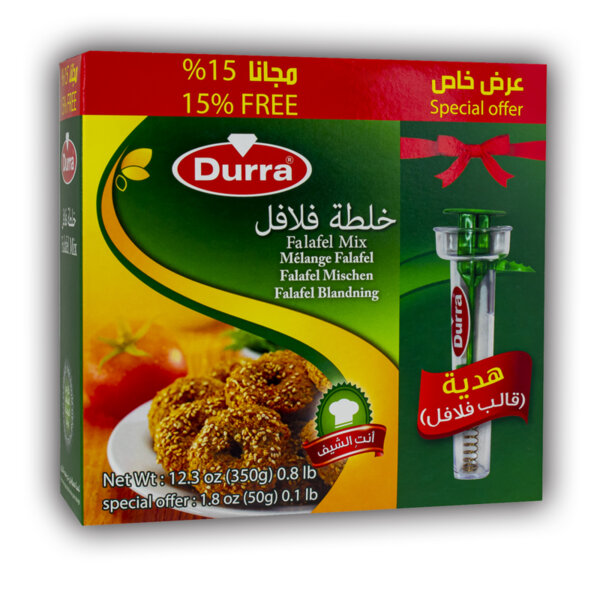 Durra Falafel Mix with 15% free and free falafel mold