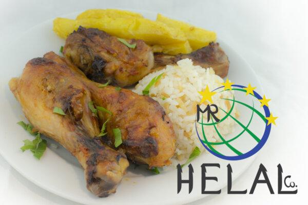 Пилешко бутче на фурна с Пилаф и пържени картофи