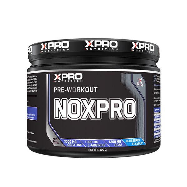 Хранителна добавка XPRO NOXPRO PRE WORKOUT с вкус на боровинка, 300 gr