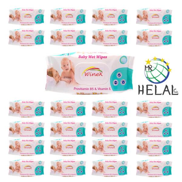 Бебешки мокри кърпички Winex с Провитамин В5 и Витамин Е, 24 x 72 бр.