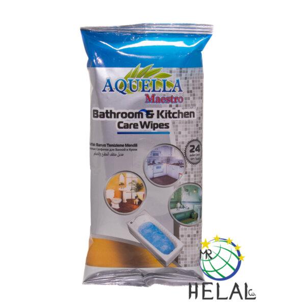 Мокри кърпи Aquella Maestro за кухня и баня - 24 броя