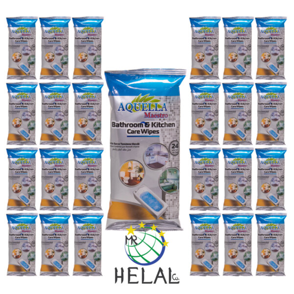 Мокри кърпи Aquella Maestro за кухня и баня, 24 пакета x 24 бр.