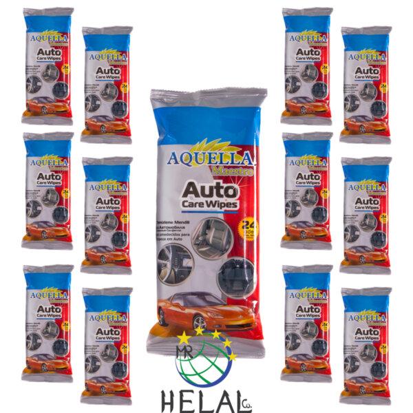 Мокри кърпи Aquella Maestro за автомобила, 12 пакета x24 бр.