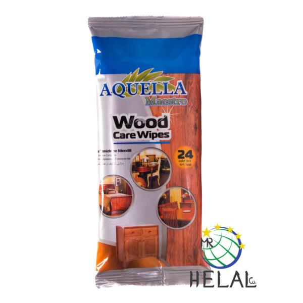 Мокри кърпи Aquella Maestro за дърво, 24 бр.