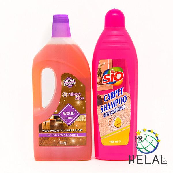 Комплект Шампоан за пране на килими + Почистващ препарат за дърво