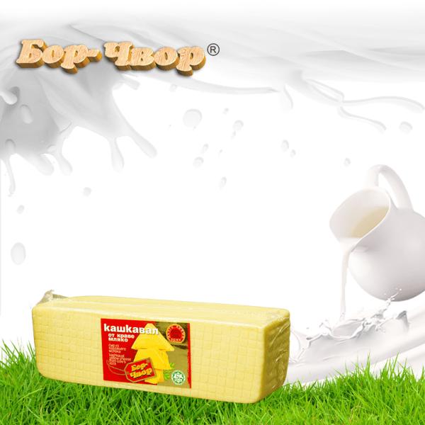 Кашкавал от краве мляко пита половинка ≈ 3 – 4 кг.