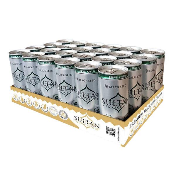 Sultan Ice Tea Зелен чай, с екстракт от черен кимион, 24 x 250 ml