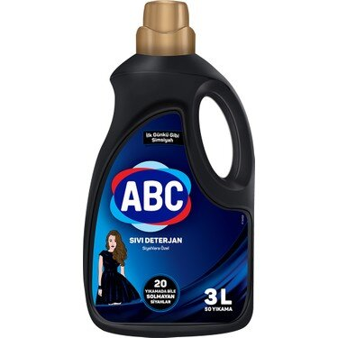 Турски течен перилен препарат за черни тъкани ABC 3 литра