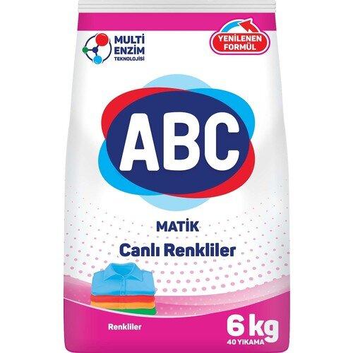 Турски перилен прах за пране ABC за цветни тъкани 6 кг