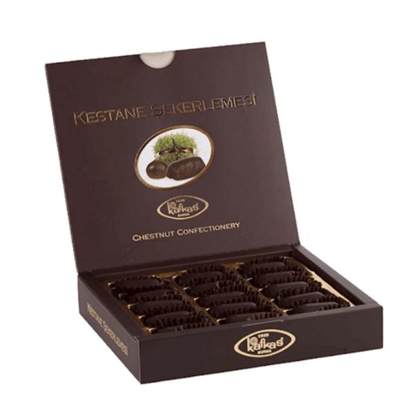 Бонбони от кестени с черен шоколад 15 бр.