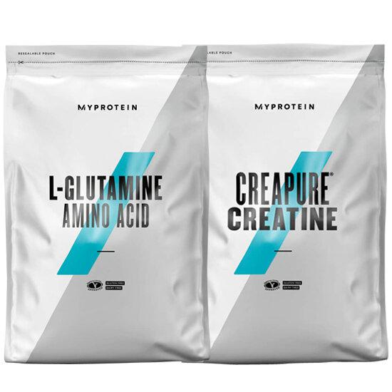 СТАК – MYPROTEIN - L-GLUTAMINE - 500 G + MYPROTEIN - CREAPURE® CREATINE - 500 G