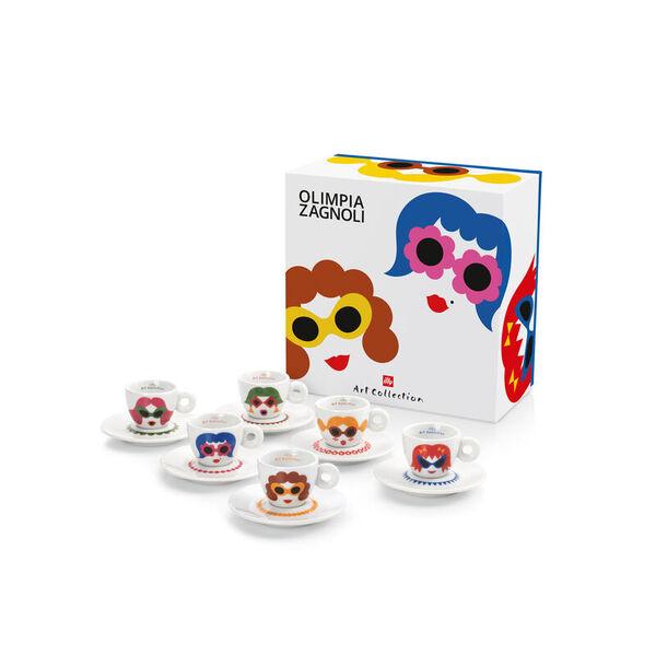 illy Колекция Olimpia Zagnoli – Сет от 6 чаши за еспресо
