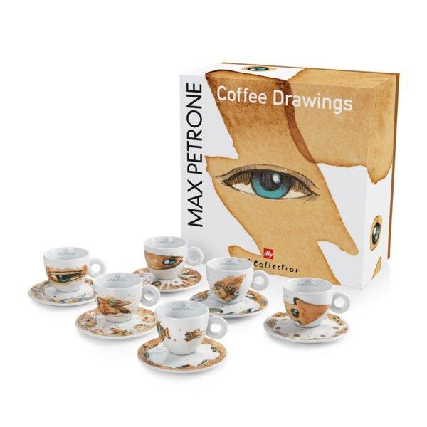 illy Колекция Max Petrone – Сет от 6 чаши за капучино