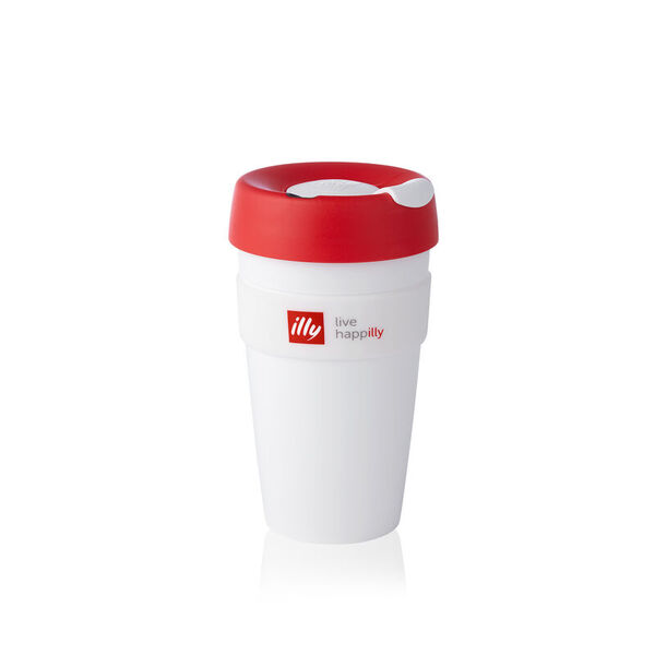 illy Live HAPPilly KeepCup – Чаша за из път в бяло, 454 мл