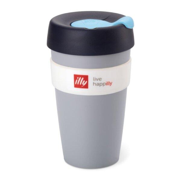 illy Live HAPPilly KeepCup – Чаша за из път в сиво, 454 мл