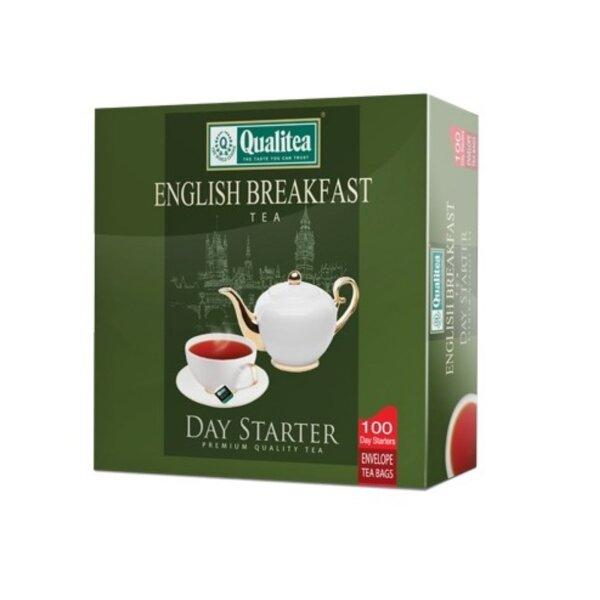 Черен чай – Qualitea English Breakfast – 100 сашета кутия