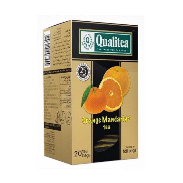 Черен чай – Qualitea Orange Mandarine – 20 сашета