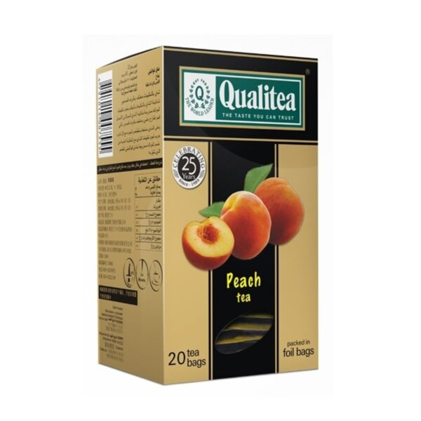 Черен чай – Qualitea Peach – 20 сашета