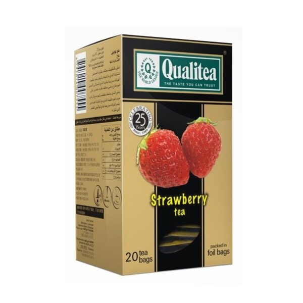 Черен чай – Qualitea Strawberry – 20 сашета
