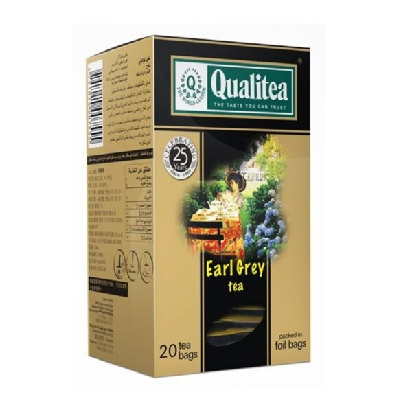 Черен чай – Qualitea Earl Grey – 20 сашета