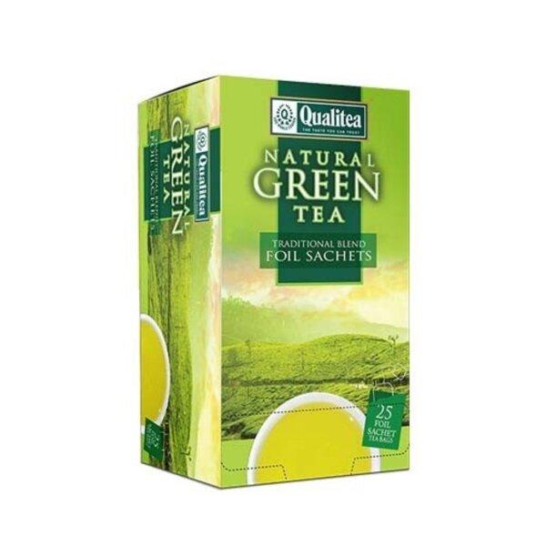 Зелен чай – Qualitea Natural Green – 25 сашета