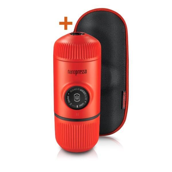 Wacaco Nanopresso Lava Red + калъф – Преносима портативна машина за еспресо