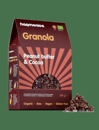 Био гранола фъстъчено масло и какао 250 гр.
