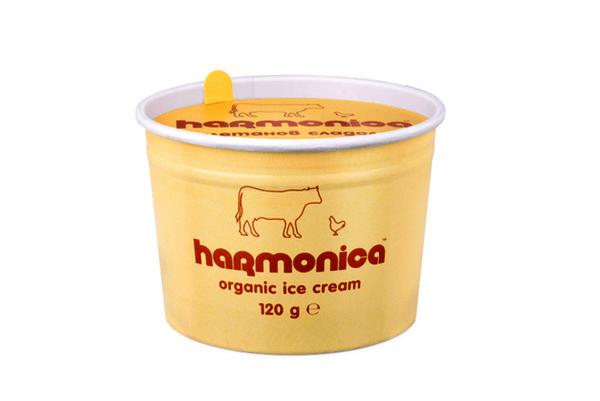 Био сметанов сладолед harmonica 120 гр.