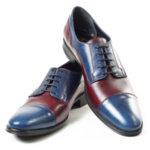 Официални мъжки обувки Maximmillian модел Dylan Blue&Bordo