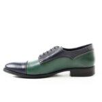 Официални мъжки обувки Maximmillian модел Dylan Син&Зелен