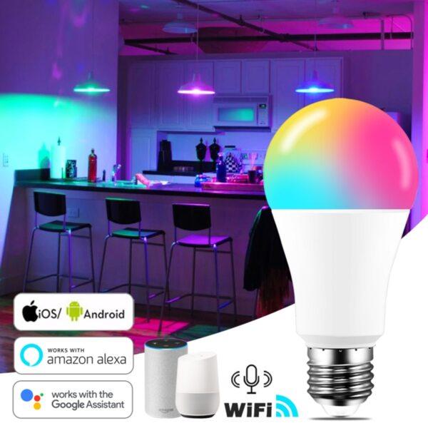 многоцветна димируема LED SMART крушка 10W