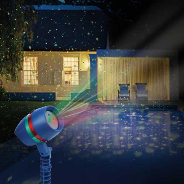 Лазерен фенер за коледно настроение