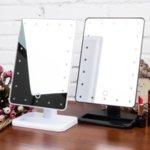 Голямо огледало за гримиране с осветление