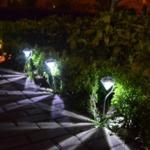 Градинска соларна лампа Диамант