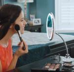 LED Огледало с гъвкава дръжка