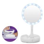 Сгъваемо LED огледало за гримиране