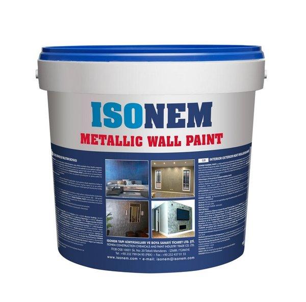METALLIC WALL PAINT - Декоративно покритие с металически ефект за външна и вътрешна употреба 5кг