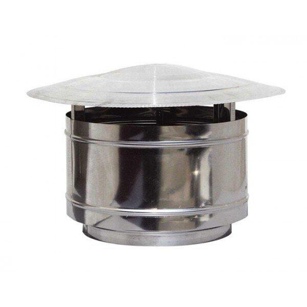 Шапка за комин Противодимно варелче, Инокс, Размер Φ80 - Φ350