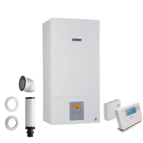 Bosch Condens 2500W + Коминен комплект + Безжичен термостат