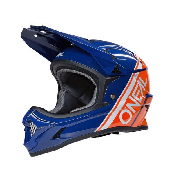 Каска O'Neal Sonus Solid синьо/оранжева