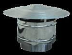 Καπέλο καμινάδας διπλού τοιχώματος, (αντιανεμικό), Ανοξείδωτο ατσάλι, Διάμετρος Φ80 - Φ350