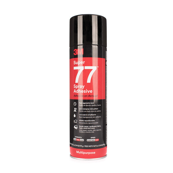Прозрачно спрей лепило 3M Super77™