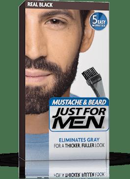 Гел оцветител - боя за мустаци и брада светло кафяво- Just for Men  Real Black