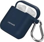 USAMS BH423 Silicone Case for AirPods Blue