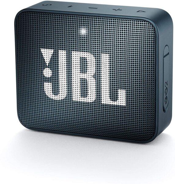 Синя безжична колонка JBL GO 2 Portable Bluetooth Waterproof Speaker (Navy)
