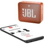 JBL GO 2 Portable Wireless Speaker (Coral Orange)